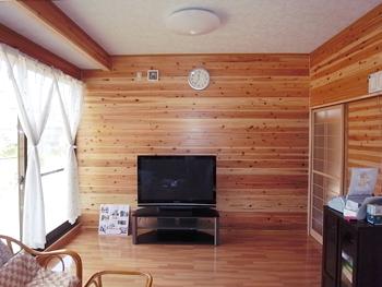 自然素材の良さが感じられるお部屋となりました。全体的にまとまった大きな空間になりました。